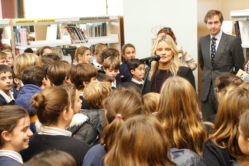 Alumnos del colegio CASVI de Boadilla del Monte, Madrid.