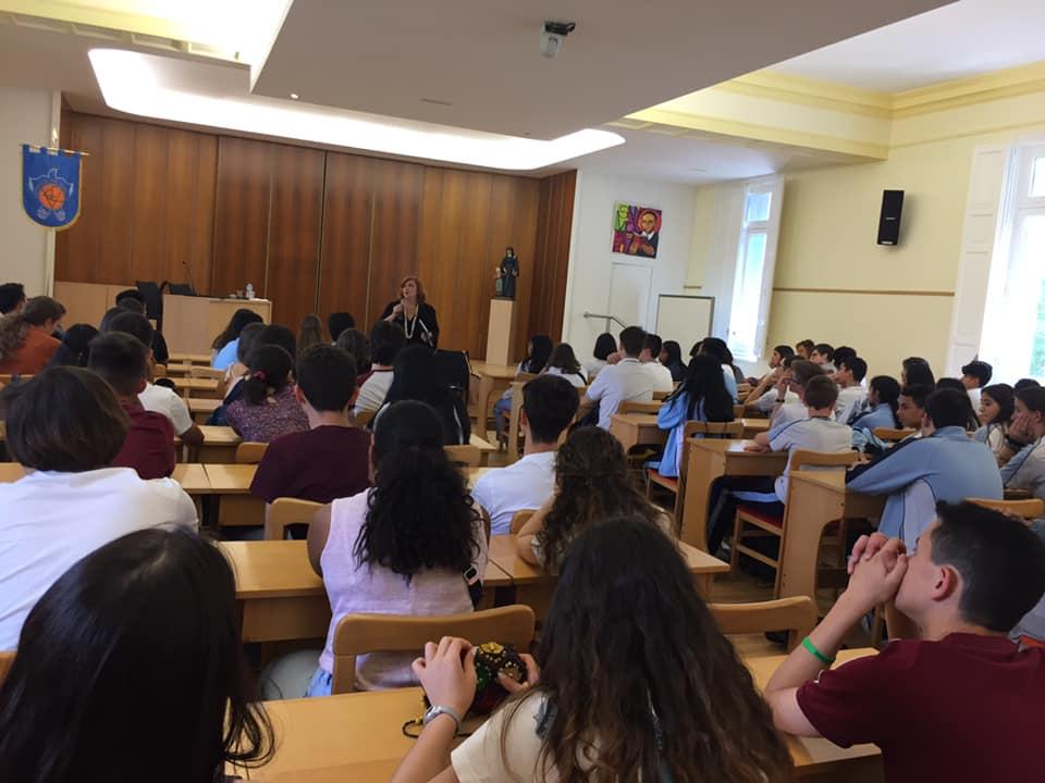 Charla en el colegio Inmaculada Marillac, en Madrid.
