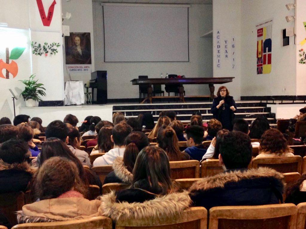 Charla en el colegio Isaac Newton, en Madrid.