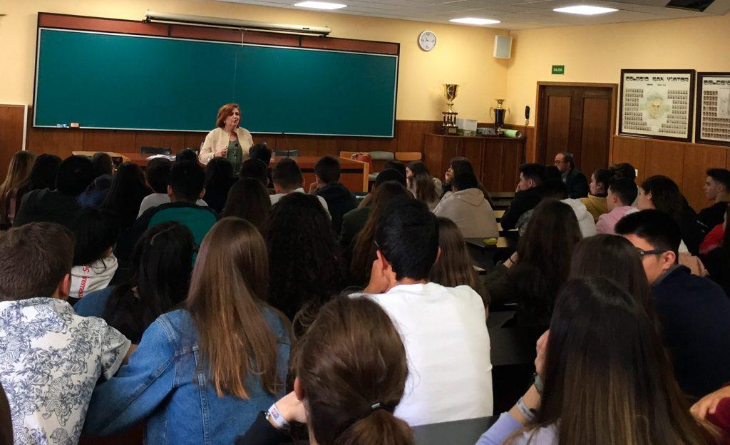 Charla en el colegio San Viator, en Madrid.