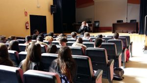 Charla en el instituto Juanelo Turriano, en Toledo.
