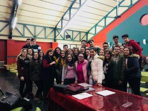 Charla en en el Instituto Aguilar y Cano, en Sevilla